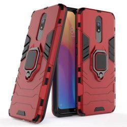 Ring Armor tok kitámasztható Kemény telefontok Xiaomi redmi 8A / Xiaomi redmi 8 piros telefontok hátlap tok