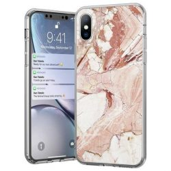 Wozinsky Marble TPU tok iPhone 11 Pro Max pink telefontok hátlap tok