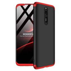 GKK 360 Protection tok Első és hátsó tok az egész testet fedő Xiaomi redmi 8 fekete-piros telefontok tok
