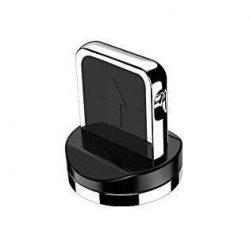 Mágneses USB kábel Lightning fej ezüst