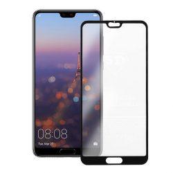 Huawei P20 Pro - Edzett Üveg Tempered Glass 0.3mm 5d Fekete Üvegfólia