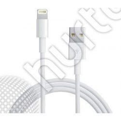 kábel USB fehér 2M iPhone 5 Lightning iPad 4 iPod