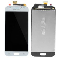 LCD + Érintőpanel teljes SAMSUNG J330 GALAXY J3 2017 SILVER / KÉK [HQ LCD]
