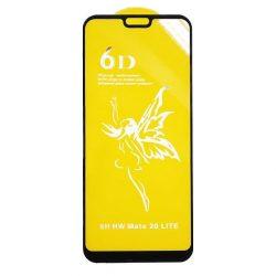 Huawei Mate 20 Lite - Edzett Üveg Tempered Glass 0.3mm 5d Fekete Üvegfólia