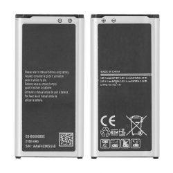 AKKUMULÁTOR SAMSUNG G800F S5 MINI EB-BG800BBE 2100mAh BULK embléma nélkül