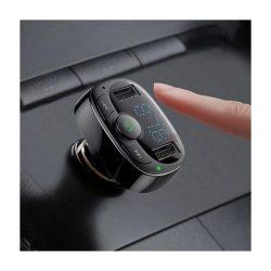 FM transmiter Autós szivargyújtó töltő BASEUS CCTM-01 Fekete
