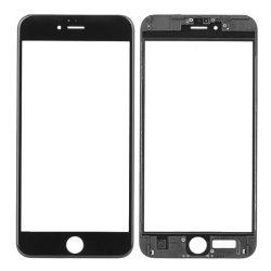 Üvegfólia védőüveg IPHONE 6S PLUS fekete foglalattal és OCA és polarizált FILM