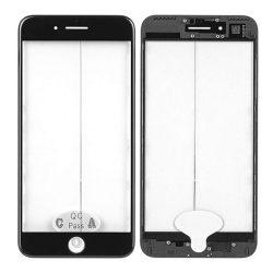 Üvegfólia védőüveg IPHONE 7 PLUS fekete foglalattal és OCA és polarizált FILM