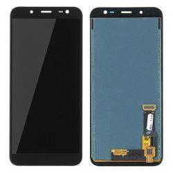 LCD + Érintőpanel teljes SAMSUNG J600 GALAXY J6 2018 Fekete [HQ]