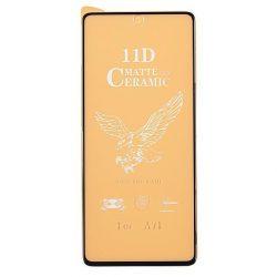 Samsung A715 Galaxy A71 / M515 Galaxy M51 - Üvegkerámia Matt 5d Fekete Üvegfólia