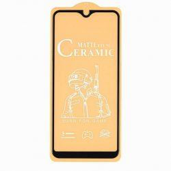 Samsung A202 Galaxy A20e - Üvegkerámia Matt 5d Fekete Üvegfólia