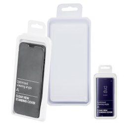 Flip Tok Clear View Huawei P40 Lite Fekete Telefontok