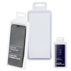 Flip Tok Clear View Huawei P40 Lite E Fekete Telefontok