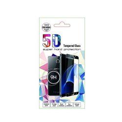 Huawei Y6p - Üvegkerámia Matt 5d Fekete Üvegfólia