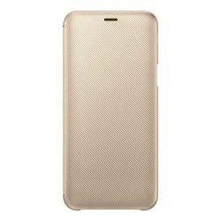 Samsung Wallet Cover kinyitható flipes tok kártya tartóval Samsung Galaxy J6 2018 arany (EF-WJ600CFEG)