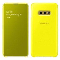 Samsung Clear View Cover smart kijelző Samsung Galaxy S10e sárga (EF-ZG970CYEGWW)