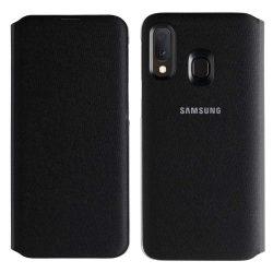 Samsung Wallet Cover Flipes tok telefon tok kártya foglalattal Samsung Galaxy A20e fekete (EF-WA202PBEGWW)