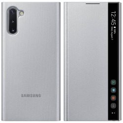 Samsung Clear View Standing Cover Smart kijelző Samsung Galaxy Note 10 ezüst (EF - ZN970CSEGWW) flip tok telefontok flipes tok