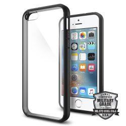 Spigen Ultra hibrid telefon tok iPhone SE / 5S / 5 fekete telefon tok telefontok (hátlap)
