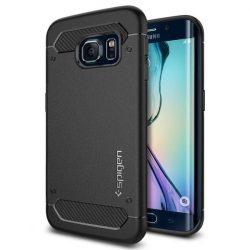 Spigen Robusztus Armor telefon tok Samsung Galaxy S6 Edge G925 fekete (fekete) tok telefon tok hátlap