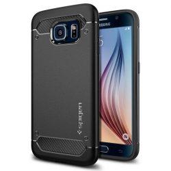 Spigen Robusztus Armor telefon tok Samsung Galaxy S6 G920 fekete telefon tok telefontok
