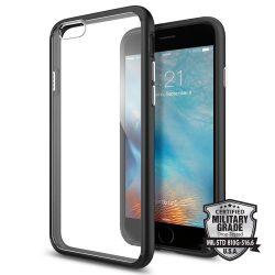 Spigen Ultra hibrid telefon tok iPhone 6S / 6 fekete telefon tok telefontok (hátlap)