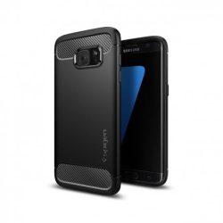Spigen Robusztus Armor telefon tok Samsung Galaxy S7 Edge G935 fekete tok telefon tok hátlap