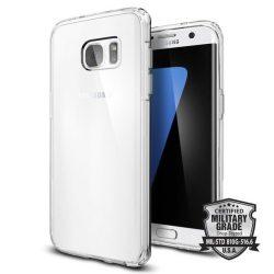Spigen Ultra hibrid telefon tok Samsung Galaxy S7 Edge G935 átlátszó (Crystal Clear) tok telefon tok hátlap