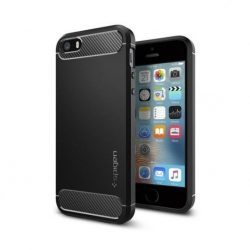Spigen Robusztus Armor telefon tok iPhone SE / 5S / 5 fekete telefon tok telefontok