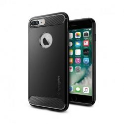 Spigen Robusztus Armor telefon tok iPhone 8 Plus / 7 Plus fekete telefon tok telefontok