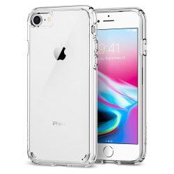 Spigen Ultra Hybrid 2 telefon tok iPhone 8/7 átlátszó (Crystal Clear) tok telefon tok hátlap