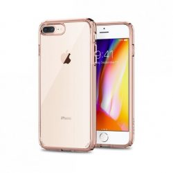 Spigen Ultra Hybrid 2 telefon tok iPhone 8 Plus / 7 Plus pink telefon tok telefontok (hátlap)