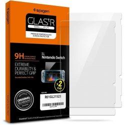 Edzett üveg SPIGEN GLAS.TR 2 SLIM-PACK Nintendo SWITCHkijelzőfólia üvegfólia tempered glass