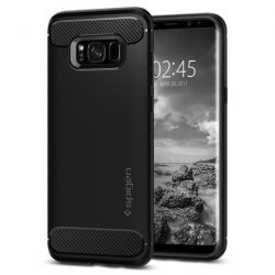 Spigen Robusztus Armor telefon tok Samsung Galaxy S8 G950 fekete telefon tok telefontok (hátlap)