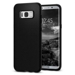 Spigen Liquid Air Armor telefon tok Samsung Galaxy S8 G950 fekete telefon tok telefontok (hátlap)