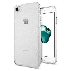 Spigen Liquid Crystal Glitter tok fedél iPhone 8/7 átlátszó (Glitter Crystal) tok telefon tok hátlap