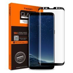 Edzett üvegfólia SPIGEN GLAS.TR CASE BARÁT GALAXY S8 BLACK Samsung Galaxy kijelzőfólia üvegfólia tempered glass