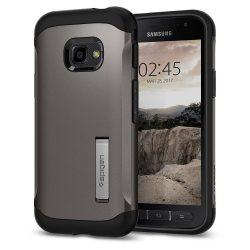 Spigen Slim Armor kitámasztó telefon tok Samsung Galaxy Xcover 4 G390 szürke (Gunmetal) telefon tok telefontok