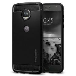 Spigen Robusztus Armor telefon tok Motorola Moto Z2 Játssz fekete (fekete) tok telefon tok hátlap
