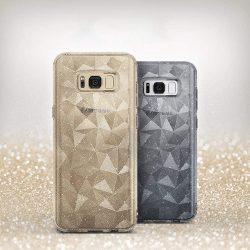 Ringke Air Prism Glitter Ultra-vékony 3D Shining Cover Gel TPU tok telefon tok hátlap Samsung Galaxy S8 G950 szürke (APSG0010-RPKG)