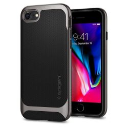 Spigen Neo Hybrid Herringbone telefon tok iPhone 8/7 szürke (Gunmetal) tok telefon tok hátlap