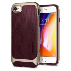 Spigen Neo hibrid Herringbone tok fedél iPhone 8/7 vörös (burgundi) tok telefon tok hátlap