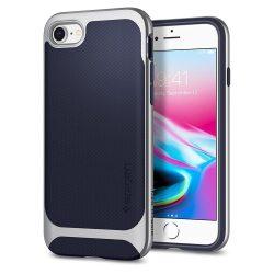 Spigen Neo Hybrid Herringbone telefon tok iPhone 8/7 ezüst (Satin Silver) tok telefon tok hátlap