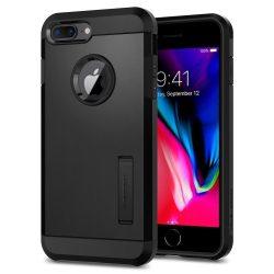 Spigen Kemény Armor 2 kitámasztó lefedik iPhone 8 Plus / 7 Plus fekete telefon tok telefontok (hátlap)