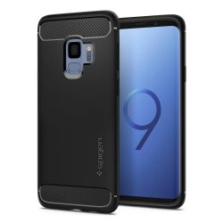 Spigen Robusztus Armor telefon tok Samsung Galaxy S9 G960 fekete telefon tok telefontok