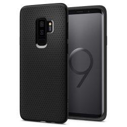 Spigen Liquid Air Armor telefon tok Samsung Galaxy S9 Plus G965 fekete telefon tok telefontok