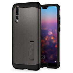 Spigen Slim Armor kitámasztó telefon tok Huawei P20 Pro szürke (Gunmetal) tok telefon tok hátlap