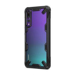 Ringke Fusion X hibrid tok telefon tok hátlap Robusztus Cover Huawei P20 Pro fekete (FXHW0002-RPKG)
