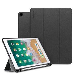 Ringke smart tok telefon tok hátlap tablet hátlap tok telefon tok több szögben álljon és a Smart Elalvás funkció iPad 9.7 2018 fekete (PDAP0001-RPKG)