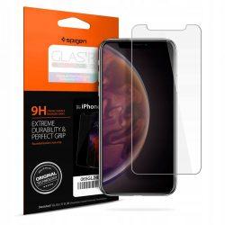 Edzett üvegfólia SPIGEN GLAS.TR SLIM iPhone XI 5.8 / iPhone XS / iPhone X kijelzőfólia üvegfólia tempered glass